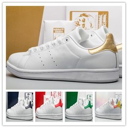 classic leather golf shoes UK - high quality women designer sneakers brand stan fashion smith shoes Casual Shoes leather classic tennis flat Hiking Jogging mens sport shoes