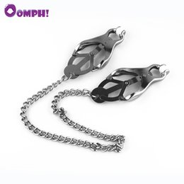 wholesale fetish toys Canada - Oomph! Women Metal Chain Nipple Clamps Sex Slave Nipples Clips Bondage Fetish Sex Toys For Couples In Adult Games Sex Products C18112701