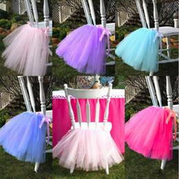 Birthday Tutu Sale Australia - Hot Sale 50cm*45cm European Style Chair Tutu Skirt Lovely Ruffles Wedding Decorations Chairs Covers Birthday Party Supplies