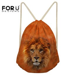 $enCountryForm.capitalKeyWord UK - FORUDESIGNS Small Drawstring Bag for Kids Boys Girls Running Tiger Printed Sport Gym Sack Bag Team Training Backpack for Shoes #567996