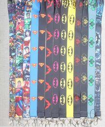 Avengers bAdges online shopping - 200pcs avengers spider man Iron man bat man Straps Lanyard ID Badge Holders Mobile Neck Key chain