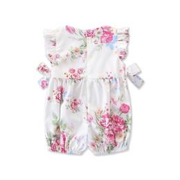 $enCountryForm.capitalKeyWord Australia - Fashion 2019 Baby Girl summer clothing cute Deer Flower cotton soft Romper Jumpsuit for newborn infant clothes children kid C13