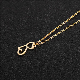 $enCountryForm.capitalKeyWord Australia - Cute Pet Cat Necklace Hollow Outline Minimalist Small Animal Lovely Pussy Kitty Cat Pendant Chain Necklaces for Women Couple