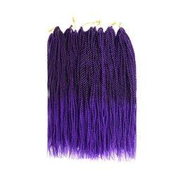 Twist Braiding Hair UK - Senegalese Twist Crochet Hair 3 Packs 18 inches Short Braids Small Havana Mambo Twist Crochet Braiding Hair Extensions