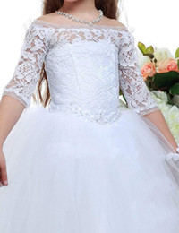 $enCountryForm.capitalKeyWord Australia - Bohemia Beach Tiered Ruffles Flower Girl Dresses For Weddings A Line Tutu Little Baby Gowns Lace Communion Dress