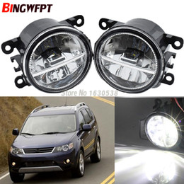 Honda Roads Australia - 2pcs pair Car Styling Round Bumper 12V H11 LED Fog Light Halogen lamps For Mitsubishi OUTLANDER II CW_W Closed Off-Road Vehicle 2006-2009