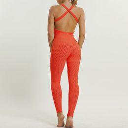 Women Jumpsuit Romper Playsuit Australia - Open Back Sexy Sportswear Woman Gym Tight Leggings Fitness Jumpsuit Sport Romper Bodycon Playsuit Jogging Femme Yoga Cloth 2018