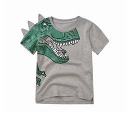 Summer Boys T Shirts Patterns Australia - 2019 Summer Children Short Sleeve New Printed Dinosaur Pattern Boy Child Short Sleeve Cotton T-Shirt Boy Top