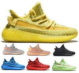 $enCountryForm.capitalKeyWord Australia - Kanye West V2 Yellow Glow Clay Antlia Static Hyperspace Blue Red Running Shoes Sneakers 2019 Men Women Luxury Designers Tennis Shoes