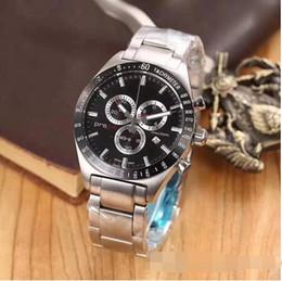 Опт Классические роскошные светящиеся мужские часы 1853 JAPAN Кварцевый механизм наручные часы с хронографом orologio мужские спортивные часы Montre браслет