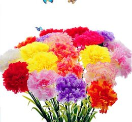 $enCountryForm.capitalKeyWord UK - Wholesale Simulation Artificial Carnations Bouquet Silk Flower For Home Living Room Party Wedding Decor Valentine Mother's Day Gift SN2582