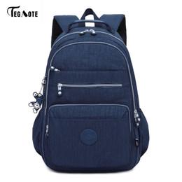$enCountryForm.capitalKeyWord NZ - Tegaote Brand Laptop Backpack Women Travel Bags 2017 Multifunction Rucksack Waterproof Nylon School Backpacks For Teenagers Y19061004