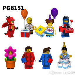 Wholesale Super Heroes Fire Dragon Balloon boy girl Racing man Flowerpot girl Cake boy Toy PG8151