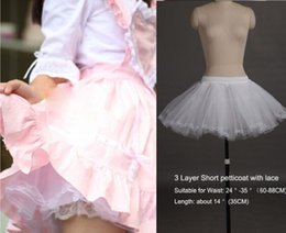 $enCountryForm.capitalKeyWord Australia - Elegant White 3 Layers Mini Petticoat Short Dress Petticoat Underskirt with Lace No Hoop Wedding Adjustable For Girl