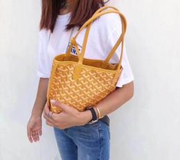 Dog Bucket Australia - New Big Yellow EMO mini shopping bag with dog teeth mini shopping bag with vegetable basket