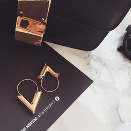 V shaped earrings online shopping - Popular in Europe and America Minimalist V shaped earrings