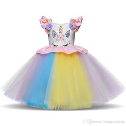 $enCountryForm.capitalKeyWord Australia - Fancy Girls Dress Kids Clothes Summer Tutu Unicornio Dresses Infantil Vestidos Children Clothing For Party Christmas Birthday Costume 1-5Yrs