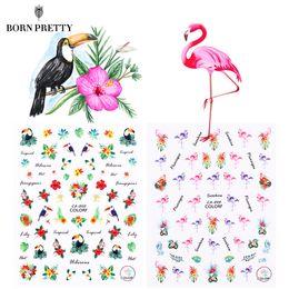 $enCountryForm.capitalKeyWord Australia - Flamingo Nail Stickers Animal Series Water Decal Ocean Cat Plant Pattern 3D Manicure Sticker Nail Art Decoration D18120801