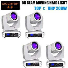 moving beam 5r NZ - TIPTOP 4 Units Sharpy lyre Beam 200W 5R Moving Head Light LED Display Screen Beam 200 Beam 5R Stage Disco Lights TP-5R