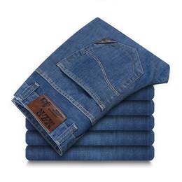44 Pants Australia - Summer Mens plus size 44 46 48 Brand-clothing Denim Jeans Pants Men Famous Designer Cotton Silm fit Thin Jeans