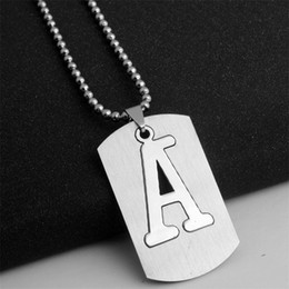 $enCountryForm.capitalKeyWord NZ - 10A stainless steel 26 English alphabet A charm necklace English initial letter symbol necklace detachable letter double layer text necklace