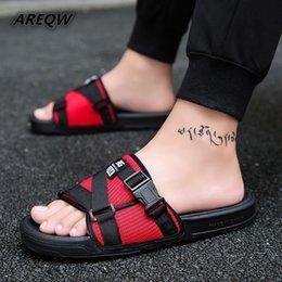 2dd5eb24b 2019 New Summer Men's Slippers Fashion Outdoor Slides Indoor Non-slip Slippers  Beach Flip Flops Personalized Men