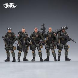 1/18 Joytoy Action Figure Exército PLA Anti-terrorismo Unit soldado Figuras modelo Collectible Toy Militar leilão Y200421 presente de Natal em Promoção