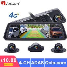 "$enCountryForm.capitalKeyWord Australia - Junsun 8 Core ADAS 4 Channel Car DVR Rear Camera FHD 1080P Video Recorder Mirror 4G 10"" Media Rearview Mirror Android Dash Cam"