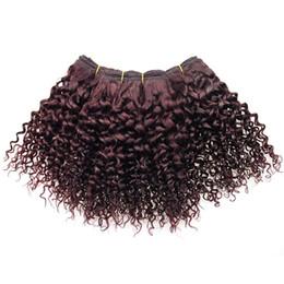 $enCountryForm.capitalKeyWord Australia - 99J Afro Kinky Human Hair Weave Bob Brazilian Hair Curly Sew In Weave 4 Bundles Brazilian Virgin Hair Burgundy Kinky Curly Weave