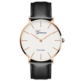 Wholesale Leather Business Man Quartz Watches Top Brand Luxury Sport For Men Casual Geneva Wristwatch Relogio