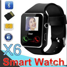 Smartwatch Bluetooth Smart Watch For Samsung Australia - Wholesale X6 Curved Screen Smart watch Bluetooth Bracelet Phone with SIM TF Card Slot with Camera for Samsung android smartwatch