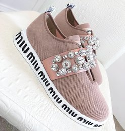 Ladies Flat Cloth Shoes NZ - 2019 high quality brand fashion ladies casual shoes fashion cloth rhinestone design superstar sports flat shoes with original packaging qy