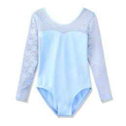 toddler leotards 2019 - BAOHULU Toddler Teens Dance Leotard for Girls Kids Ballet Dress Girls Leotard Lace Long Sleeve Dance Bodysuit Children c