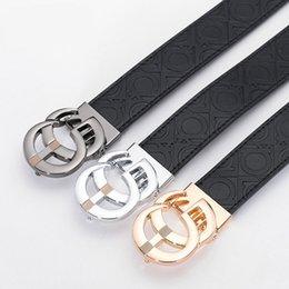 $enCountryForm.capitalKeyWord Australia - 2019 New Printing Leather Belts Trendy Designer Genuine Leather Belts for Men Women Fashion Black Belts Causal Jeans Smooth Buckle Belt