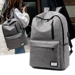 $enCountryForm.capitalKeyWord Australia - 1Usb Charge Canvas Both Shoulders Package Man Backpack Schoolgirl A Bag Travel Leisure Time Business Affairs Computer Package