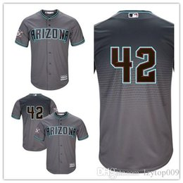 a44304b20 Custom 2019 Men s Diamondbacks Gray Arizona Arizona Jackie Robinson Day  Official Cool Base women kids Jersey