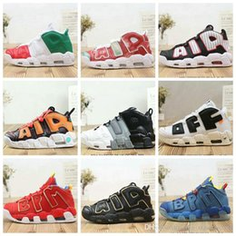 Discount sneaker shoes uk - Cheap Air More Uptempo Mens Basketball Shoes Tri-Color What The UK Italy Doernbecher Red Suede Black Gold White Wheat Sn
