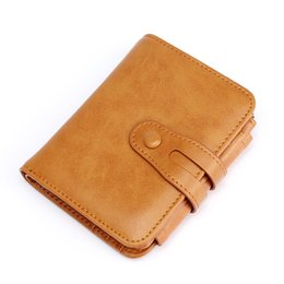 Blocks For Girls UK - Boshikang Rfid Blocking Women Wallet Genuine Leather Retro Short Wallet Coin Purse Card Holders For Girls Small Ladies
