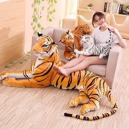 doll homes NZ - Simulation Tiger Doll Animal Plush Toy JUMBO Cute Vivid Tiger Doll Brown Tiger Childen Birthday Gift Home Decor 67inch 170cm DY50715