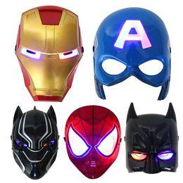 $enCountryForm.capitalKeyWord NZ - Christmas LED Glowing superhero mask for kid & adult Avengers Marvel spiderman ironman captain america hulk party mask