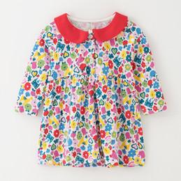 $enCountryForm.capitalKeyWord Australia - European Children Flower Dresses for baby blouse shirt for kids tops dresses for girls pattern toddler costume Mix SIZE 2019 Fall Winter