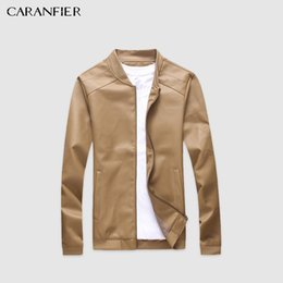 Jacket Motorcycle Australia - Caranfier Mens Leather Jackets Pu Faux Spring Fall Thin Coats Biker Punk Motorcycle Male Classic Jacket Stand Collar Zippers C19041001