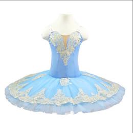 $enCountryForm.capitalKeyWord Australia - Sleeping beauty variation Pre-professional ballet tutus bird blue women pancake tutu dress cream white and gold classical ballet costume