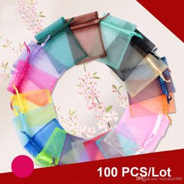 $enCountryForm.capitalKeyWord Australia - 7*9cm 100pcs lot jewelry gift bag organza bags packaging transparent party Drawable Wedding Pouches present jewel candy thank you