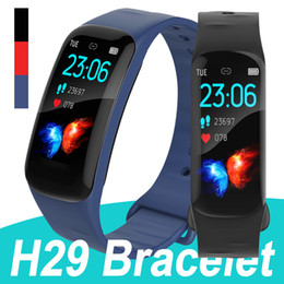 smart health pulse watch Australia - Fitness Tracker H29 Smart Bracelet Heart Rate Health Watch Band Blood Pressure Smart Watches Bracelet for Universal Cellphones