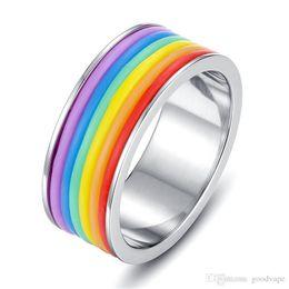 $enCountryForm.capitalKeyWord Australia - New Rainbow Finger Silicone Tire Shape SS Skin Hoop Silicon Rubber Band Ring For Mech Protection Vape Mod Vape Vaporizer RDA Tanks Decorate