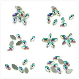 diy stone sew clothe UK - Various Sizes AB Horse Eyes Sew On Stone Crystal Glass Crystal Beads Sew On Strass Crystal Stones For DIY Clothes Craft Bags Clothes DIY
