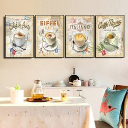 $enCountryForm.capitalKeyWord Australia - Kitchen Vintage Coffee Paris Londo Collection Posters and Prints Canvas Painting Scandinavian Art Wall Picture For Living Room