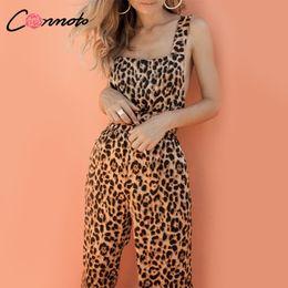 $enCountryForm.capitalKeyWord Australia - Conmoto Trendy Backless Harem Jumpsuit Leopard Print Jumpsuit Women Long Rompers Sexy Club Casual Overalls Y19060501