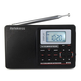 radio portable mw lw sw Australia - RETEKESS V111 Portable FM Radio DSP Stereo MW SW LW Portable Radio Full Band World Receiver Clock Alarm 9 KHZ   10 KHZ